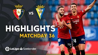 Resumen de CA Osasuna vs Cádiz CF (3-2)
