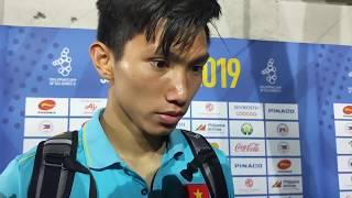 Đoàn Văn Hậu tiết lộ tình hình chấn thương của Quang Hải sau trận thắng của U22 Việt Nam