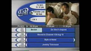 Dish Network Channel Guide - September 23rd, 2005 (a glimpse into TV in the Fall of 2005)