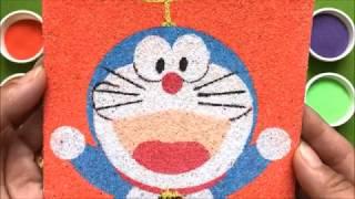 Đồ chơi trẻ em TÔ MÀU TRANH CÁT ĐÔRAÊMON BAY Colors Sand Painting Doraemon Flying (Chim Xinh)