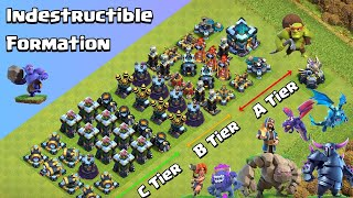 Ultimate Defense Formation Challenge | All Troops VS All Defenses | Clash of Clans