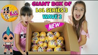 GIANT BOX OF LOL SURPRISE CONFETTI POP WAVE 2! Opening Challenge SIS vs SIS