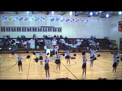 Mount Vernon High School Cheerleading Half-Time Performance 1/14/2011