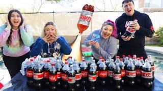 COKE AND MENTOS CHALLENGE! who can make the best rocket?