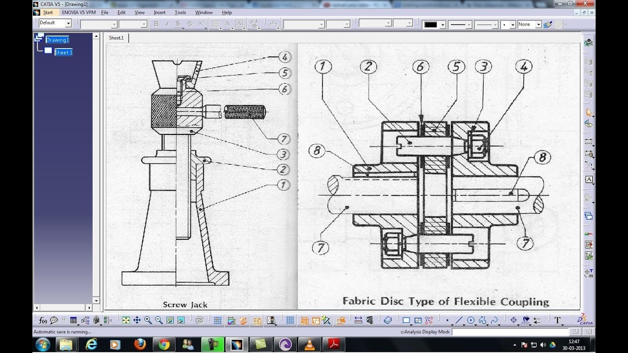 Catia V5 Tutorial Intoduction Drafting Workbench