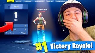 Ali-A REACTS to his 1st Victory Royale in Fortnite... (BIG NOOB!)