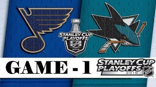 St. Louis Blues vs San Jose Sharks | Western Conference final | Game 1 | Stanley Cup 2019 | Обзор