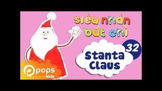Hướng Dẫn Vẽ Ông Già Noel  - Siêu Nhân Bút Chì - Tập 32 - How to Draw Santa Claus