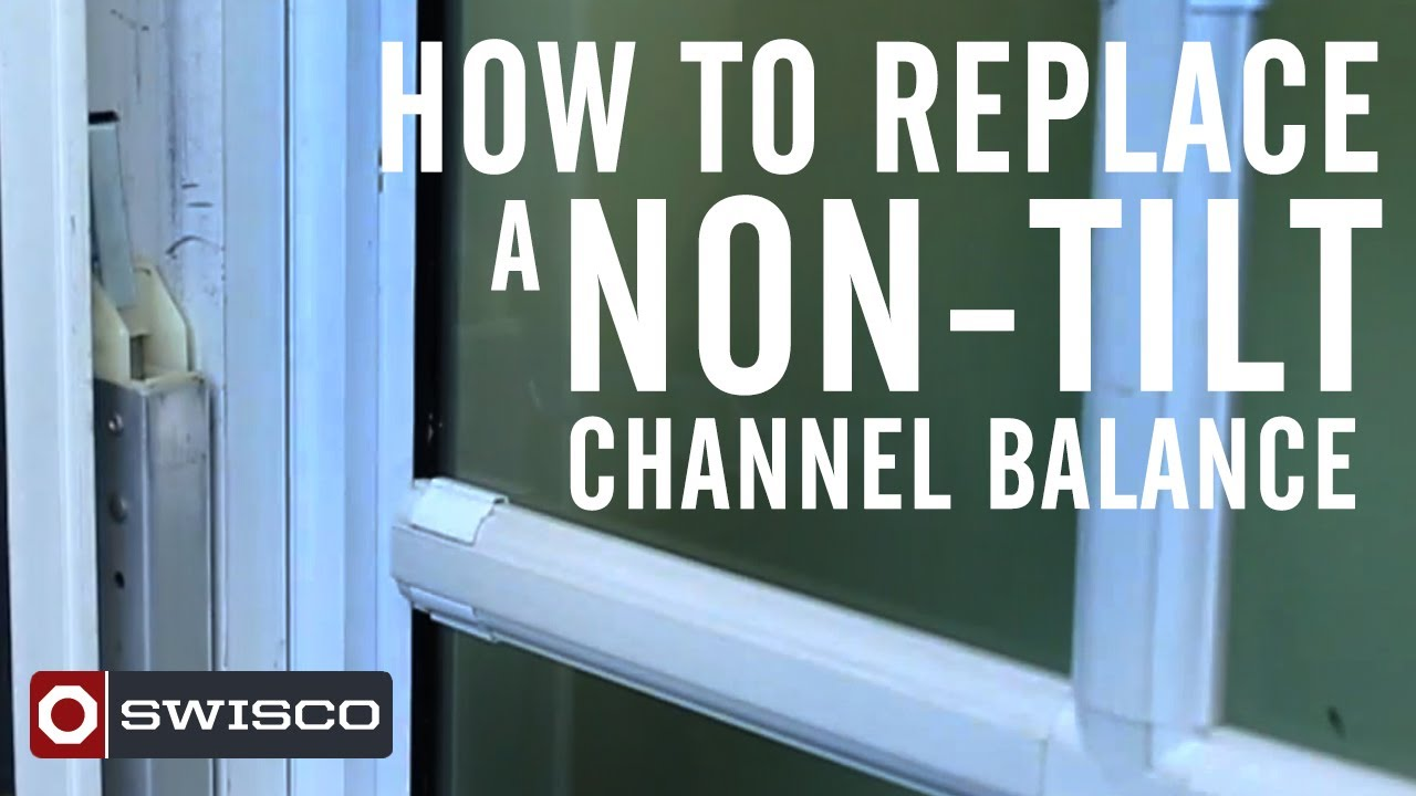 How To Replace A Non Tilt Window Channel Balance Youtube