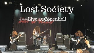 EPIC Lost Society Live performance – N.W.L + Riot, massive mosh pit + drum solo at Copenhell 2017