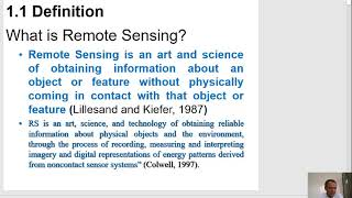 Lecture 1 Basic Concepts of Remote Sensing