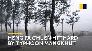 Storm surge: Heng Fa Chuen in Hong Kong hit hard by typhoon Mangkhut