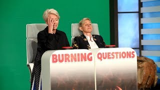 Emma Thompson Kinda Plays Burning Questions