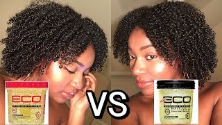 Battle of the Ecostyler Gels | Argan Oil vs Black Castor and Flaxseed Oil | Wash & Go