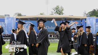 Cinematic Recap: Duke Commencement 2019