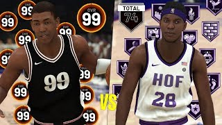 99 Overall With No Badges vs 0 Overall With All Hall Of Fame Badges! | NBA 2K20