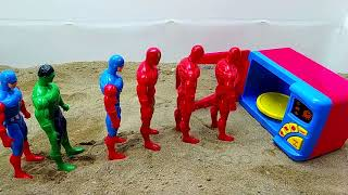 superhero jump in washbasin and transform pj masks, wrong motorcycles learn colors with colored toy
