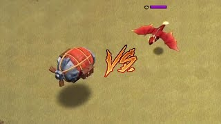 Max Level Dragon Vs Level 1 Battle Blimp | Clash of Clans |