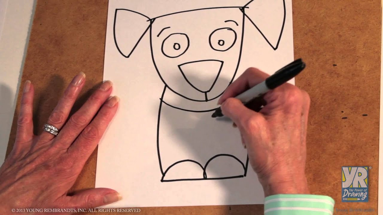 Teaching Kids How to Draw: How to Draw a Puppy - YouTube