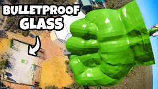HULK'S FIST Vs. BULLETPROOF GLASS from 45m!