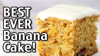 Best Ever Banana Cake Recipe! How To Make An Easy Banana Cake From Scratch
