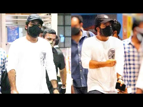 Jr. NTR spotted at Hyderabad airport after wrapping up RRR shoot