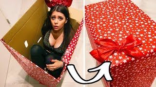 WRAPPING MYSELF in a PRESENT for 24 HOURS challenge