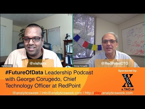 George (@RedPointCTO / @RedPointGlobal) on becoming an unbiased #Technologist in #DataDriven World #FutureOfData #Podcast