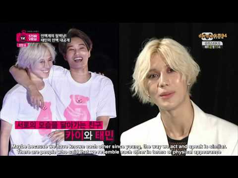 [Eng Sub HD] 140825 Taemin mentions EXO Kai on Mnet Wide Entertainment News