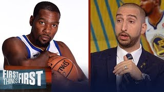 Nick: There's a real possibility even if the Warriors 3-peat, KD leaves   NBA    FIRST THINGS FIRST