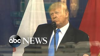President Trump speaks at Veterans Day Parade l ABC News