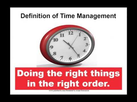 Time Management Webinar Preview