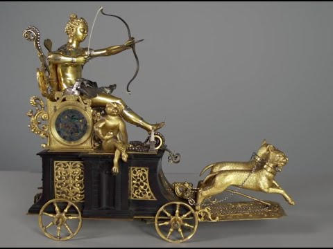 Automaton Clock in the Form of Diana on Her Chariot