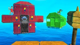 WHO HAS THE BEST HOUSE BUILD BATTLE?! - Raft