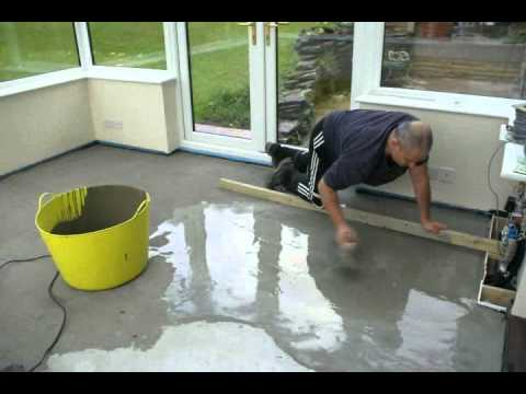 Time Lapse Of Self Leveling Floor Youtube