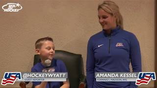 2017 Four Nations Cup: Hockey Wyatt & Amanda Kessel