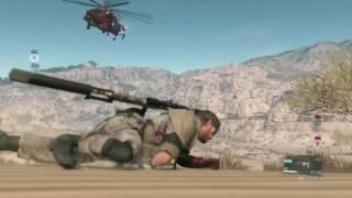 MGSV - .50 cal Sniper vs. helicopter