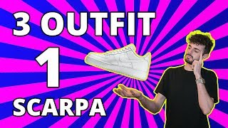 3 OUTFIT 1 SCARPA CHALLENGE - AIR FORCE 1 LOW