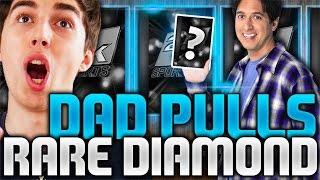 MY DAD PULLED THE RAREST DIAMOND IN 2K! NBA 2K16 PACK AND PLAY