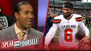 T.J. Houshmandzadeh talks the feud between Baker Mayfield and Hue Jackson | NFL | SPEAK FOR YOURSELF
