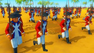 Red Coat Army BEACH LANDING! - Rise of Liberty: Battle Simulator