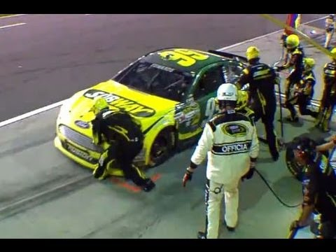 Carl Edwards Runs Over Pit Crew Member's Foot | Coke Zero 400 ...
