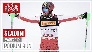 Marcel Hirscher | Gold Medal | Men's Slalom | Are | FIS World Alpine Ski Championships