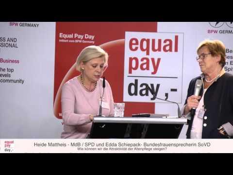 Hilde Mattheis und Edda Schliepack | Equal Pay Day Forum am 03.11.2015 im BMFSFJ, Berlin