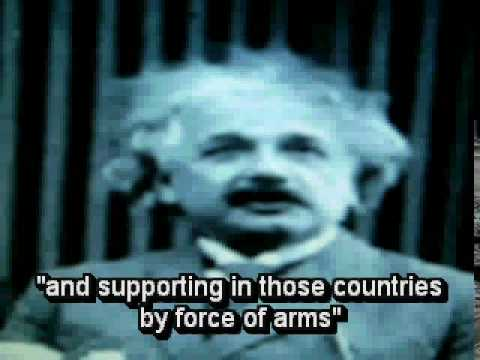 Einstein speech on world peace