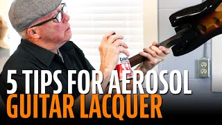 Watch the Trade Secrets Video, Tips for spraying guitars with aerosol cans