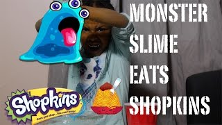 MONSTER SLIME EATS TOY | HOW TO MAKE GIANT SLIME | 3 INGREDIENTS