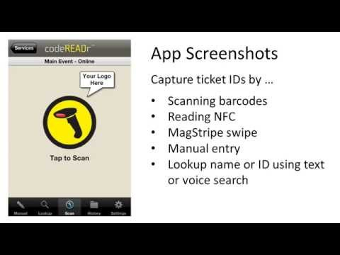 Scan tickets with smartphones