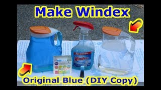 DIY - How to make Windex (Copy) Glass Window Cleaner + Streak Free Clean Car Mirror Refill