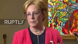 United Nations: Rus. Health Minister discusses saving woman's life aboard a plane